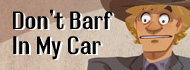 don't barf in my car button